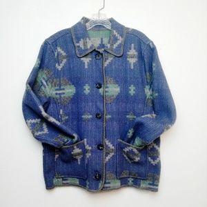 Woolrich Southwestern Reversible Wool Coat Jacket